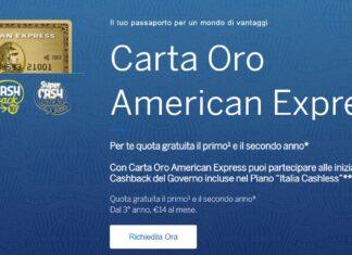 American Express Carta oro recensione